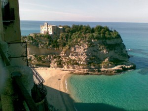 Tropea beach and monastery