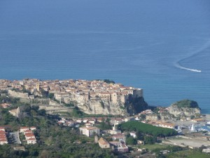 view Tropea with boat